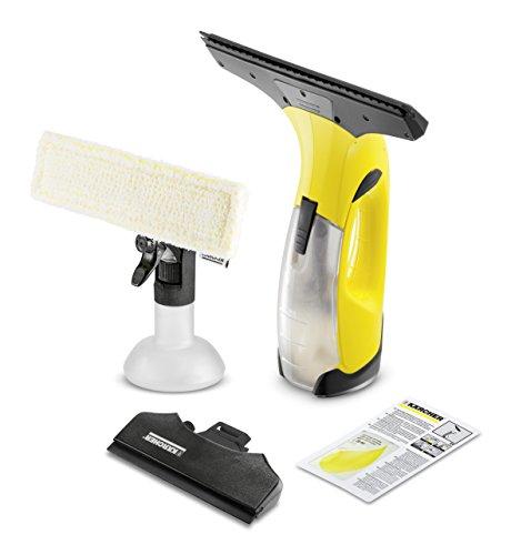 Kärcher 16334300 WV2 Premium jaune nettoyeur de vitres, avec raclette standard (largeur 280 mm et motif varié), raclette petits carreaux (largeur 170mm)