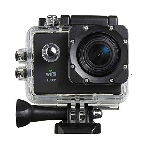 Jumpsy NK-330 WiFi 4K Full HD Sports Action Camera - 4K Ultra HD, HDMI Out,16M, 2 Inch LCD Display, WiFi with Accessorize {Black}