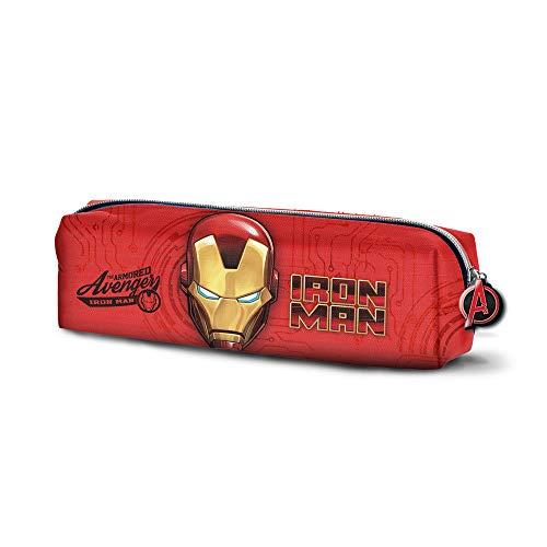 Karactermania Iron Man Armour-Quadrat Federmäppchen Astuccio, 22 cm, Rosso (Red)