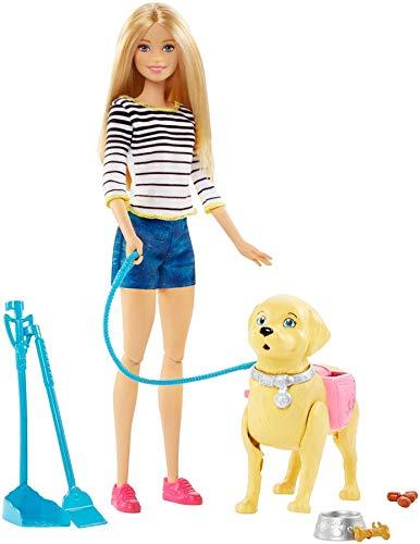 Barbie-A Spasso coi Cuccioli con Cagnolino Che Fa i Bisogni e Accessori, Multicolore, DWJ68