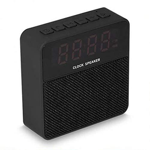 Jogger T1 Cloth Fabric Portable Bluetooth Mini Speaker with Alarm Clock Display Screen MP3,FM Radio,TF Card Support,Clock Function Speakers Portable Speaker (Black)