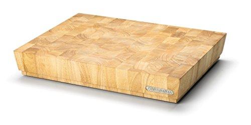 Continenta Professionale Tagliere in pregiato Gomma Albero Fronte Legno, Massive Legno cubo verleimt singolarmente, qualità Professionale Tagliere, 48x 36x 7,3cm