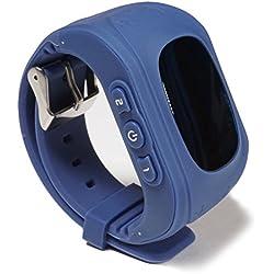 Wayona W-KDT-008 Tracker Smart Wrist Watch with GPS and GSM System (Dark Blue)