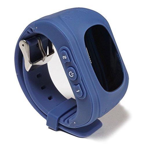 Wayona W-KDT-03 Tracker Smart Wrist Watch with GPS and GSM System (Dark Blue, W-KDT-008)
