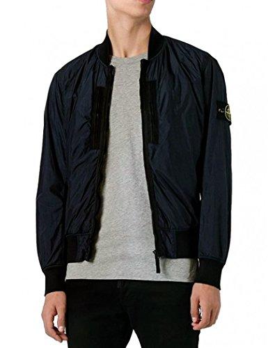 127e8a725 Stone Island Mens Dark Navy Bomber Jacket Garment Dyed Crinkle Reps NY