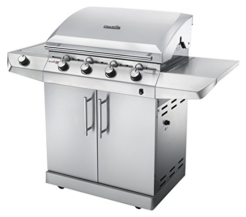 Char-Broil Performance SeriesTM T47G - 4 Burner Gas Barbecue Grill with TRU-InfraredTM technology and Side-Burner, Stainless Steel Finish.