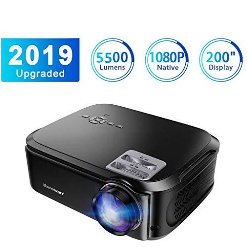 Proiettore Excelvan Videoproiettore 5500 Lumen 1080P Nativo USB/VGA/SD/HDMI Risoluzione 1920*1080P...