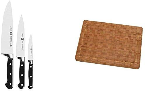 zwilling professional s messer set mit passendem zwilling schneidebrett aus bambus haushalt. Black Bedroom Furniture Sets. Home Design Ideas