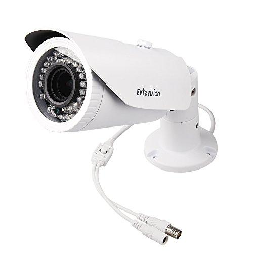 Evtevision 4MP telecamera di sicurezza AHD/TVI/CVI/CVBS 4 in 1 Videocamera di Sorveglianza 42 IR Leds 2.8-12mm obiettivo varifocale 130Feet/40M Visione notturna Impermeabile IP66 con filtro IR CUT