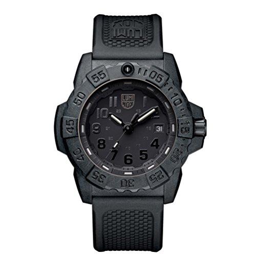 Luminox Herren Datum klassisch Quarz Uhr mit PU Armband XS.3501.BO