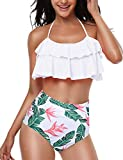 FidgetGear Women Sexy High Cut Out Bikini One Piece,Women Sexy Solid Color Lacing Bikini for Swimming 21