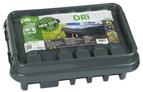 Dri-Box DB-285-UK-B Scatola a Prova di intemperie IP55 Media, Colore: Nero
