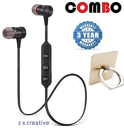 Z X CREATIVE in-Ear Wireless Music Earphone and Bluetooth Headset with Mic for All Android Devices -Combo Pack of 2