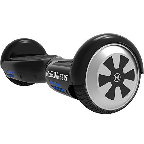 "M MEGAWHEELS 6.5"" Smart Self Balance 500W Motore Scooter con LED,Bluetooth Altoparlante (Nero)"