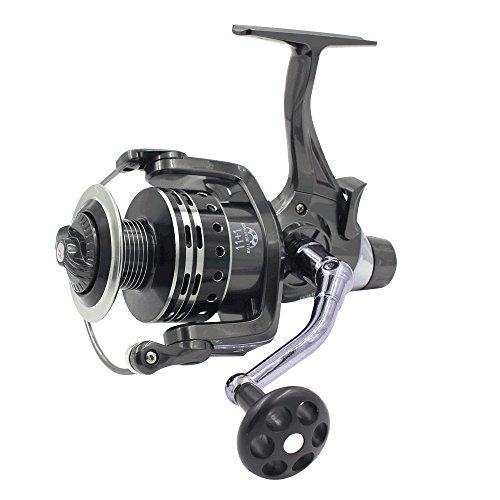 LU2000 KN6000 Mulinelli per carpa a lamelle Baitrunner Mulinello per pesca a spinning con frizione anteriore e frizione posteriore 11 + 1 BB Cuscinetto a sfere 4.7: 1 (KN 6000)