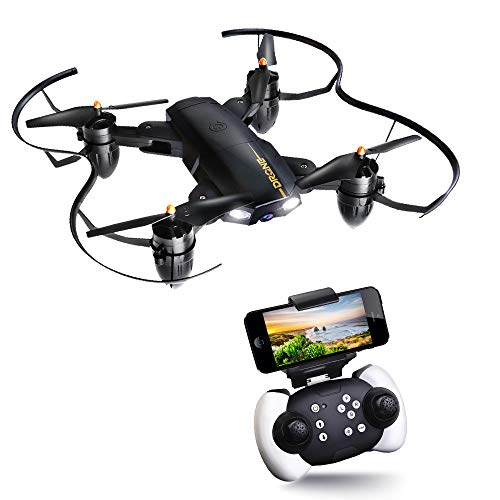 Drone Pieghevole JoyGeek Fotocamera HD WIFI FPV RC Drone Telecamera Helicopter 2.4GHz 4CH 6-Axis...