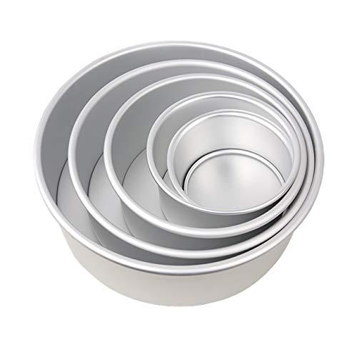 Teglia Professionale Tonda in Alluminio Anodizzato, 5-Tier antiaderente torta rotonda latta Set con...