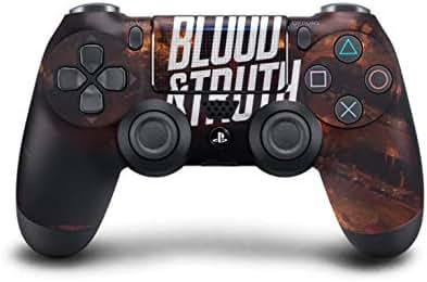 PS4 DualShock Wireless Controller Pro Konsole PlayStation4 Controller mit weichem Griff und exklusiver individueller Version Skin (PS4-Blood and Truth)