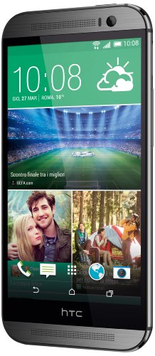 HTC One M8 Smartphone, 16 GB, Grigio (Gun Metal Grey) [Italia]