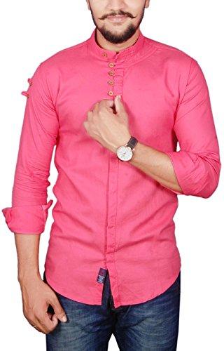 Vero Lie Men's Casual Shirt_VR-ST45-L_Pink_L