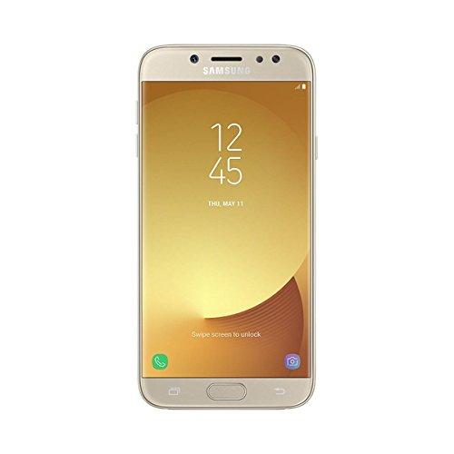 """Samsung Galaxy J7 2017 - Smartphone Libre de 5.5"""" Full HD (4 G, Bluetooth, Octa-Core de 16 GHz, Memoria 16 GB, 3 GB RAM, cámara de 13 MP, Android 7.0 versión española), Color Dorado"""