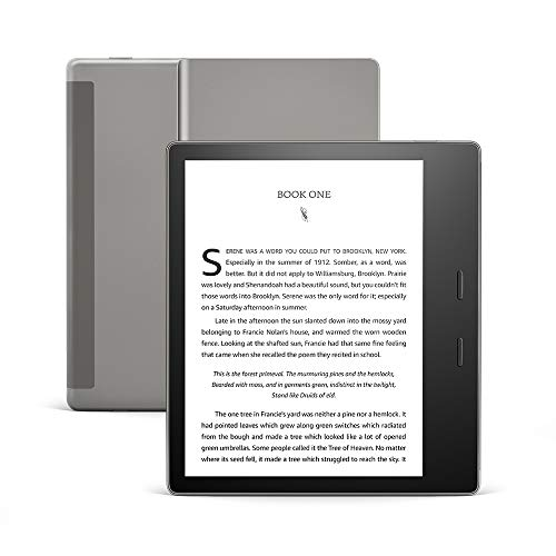 "All-New Kindle Oasis (10th Gen) - Now with adjustable warm light, 7"" Display, Waterproof, 32 GB, WiFi + Free 4G (Graphite) 13"