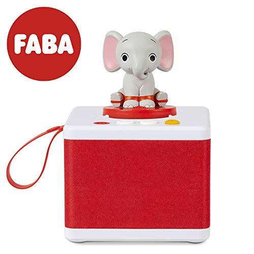 Raccontastorie FABA bianco - Cassa audio con personaggio sonoro ELE l'Elefante, FABA FBC10001