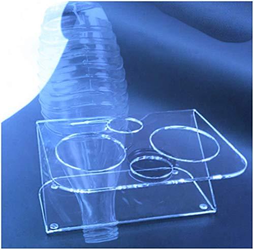 HOKU Holzhäuser Kunststofftechnik  Flaschenhalter Sodastream Glasflaschhalter für 2 Glaskaraffen Abtropf-Halter-Gestell-ständer