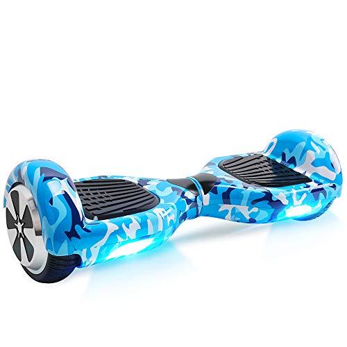 BEBK Hover Board 6.5' Smart Self Balance Scooter Elettrico Autobilanciato con LED, 2 * 350W Motore