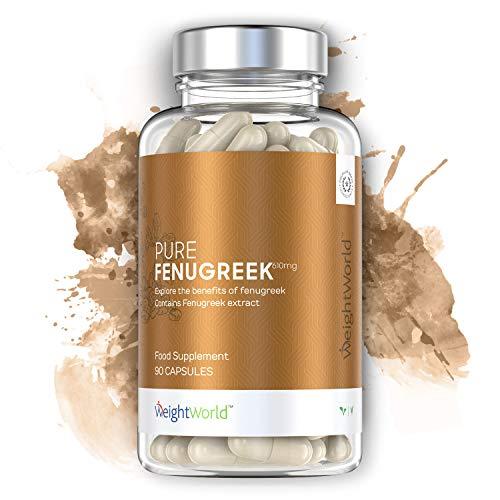 WeightWorld Fieno Greco Puro - Integratore Dimagrante Naturale - Rimedi Naturali Vampate Menopausa - Aumento del Seno