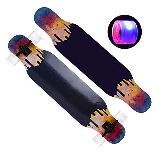 F-spinbike Skateboard Skateboard Completi Bambini Principianti Longboard con Piattaforma Ragazzi...