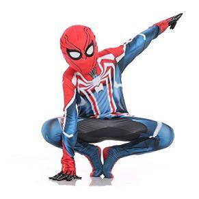 SPIDERMANHTT Body elástico for niños Spiderman Cosplay disfraz Halloween Movie Heroes Return Extraordinary Venom Performance Costume Impresión 3D Spandex Lycra (Color : D, Size : XL)