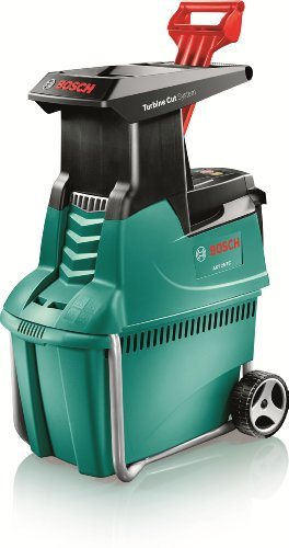 Best Bosch Shredder - will shred most materials from soft green leafy material to woody materials - Our best pick but also the most expensive but very effective for different types of material