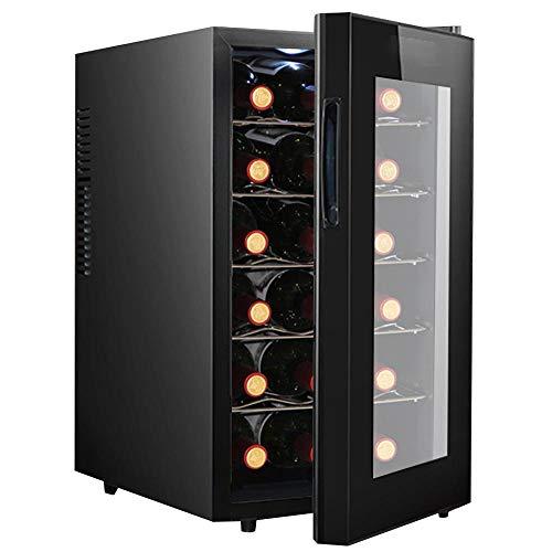 BAKAJI Cantina Refrigerante Bottiglie di Vino Cantinetta Frigo Elettrica con 18 Porta Bottiglie 52...