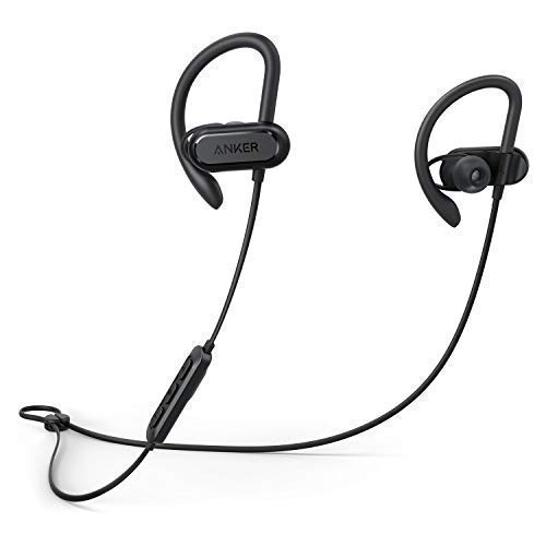 Anker Soundcore Spirit X , auriculares bluetooth inalambricos con Bluetooth 5.0, batería de 12 horas, tecnología SweatGuard IPX7, ajuste seguro para deporte y entrenamientos