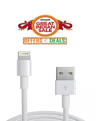 Data Cable -iphone6s/5s Apple Iphone Data Sync & Charging Cable for Iphone 5, 5s, 5c, 6 , 6s, 6 Plus, 7, 7 Plus, iPods & Tablets (White)