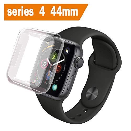 ALOUCH Cover Apple Watch Serie 4 44mm, iWatch 44mm Custodia Protettore Schermo Protettivo Tutto Intorno Chiarissimo Morbido TPU Paraurti Pellicola Protettiva Case per Apple Watch 4 44mm