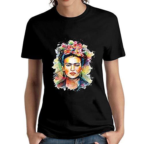 HAIZHENY Mujer Frida Kahlo Colour Cotton Camiseta/T-Shirt tee XX-Large