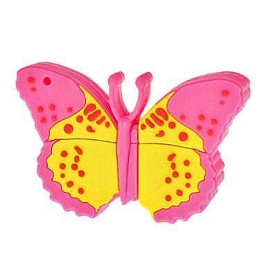Mariposa Rosa 16 GB - Butterfly Pink - Memoria Almacenamiento de Datos - USB Flash Pen Drive Memory Stick