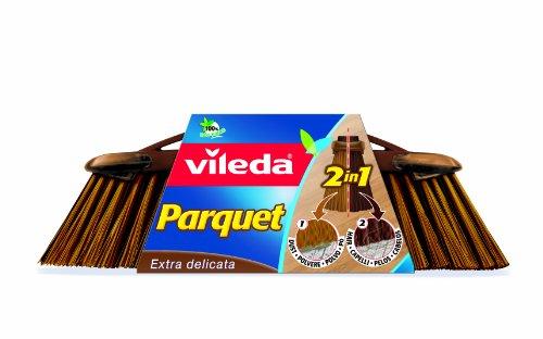 Vileda 133580 Recambio Cepillo Parquet, FRP (Plástico Reforzado con Fibra), Tereftalato de Polietileno (Pet), Marrón