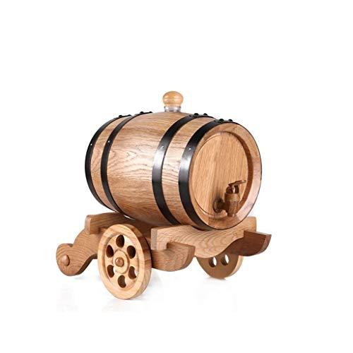 Botti di Legno 3L Vintage Wine Barrel, Vintage Oak Barrel Wine Barrel Dispenser Birra Whiskey Rum...