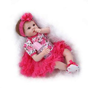 LIDE Lindo Baby Dolls 22pulgadas 55cm Recien Nacido Juguetes Suave Silicona Vinilo Magnética Reborn Muñecos Bebé Ojos Abiertos Niña