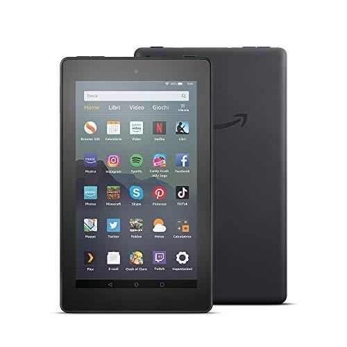 Tablet Fire 7, schermo da 7', 16 GB, (Nero) - con offerte speciali