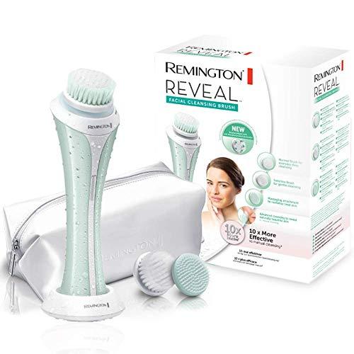 Remington Reveal FC1000 - Cepillo Limpiador Facial, Cabezal Giratorio, 3 Accesorios, Uso Seco y Mojado, Verde