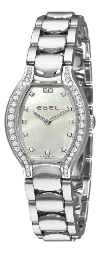 Ebel Beluga Tonneau Ladies Stainless Steel & Diamond Womens Watch MOP Dial 9956P28/991050