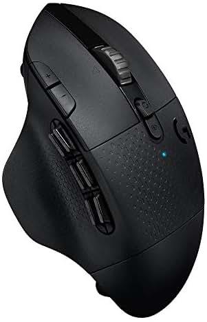 Logitech G604 LIGHTSPEED kabellose Gaming-Maus (mit 15 programmierbaren Bedienelementen, bis zu 240 Stunden Akkulaufzeit, zwei kabellosen Verbindungsmodi (Westeuropäische Verpackung)) schwarz