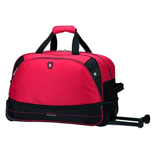 OIWAS Sac de Voyage à roulettes Trolley Bagage à Main Valise à roulettes Bagage de Cabine pour Femme Homme,45L à 55L Rouge