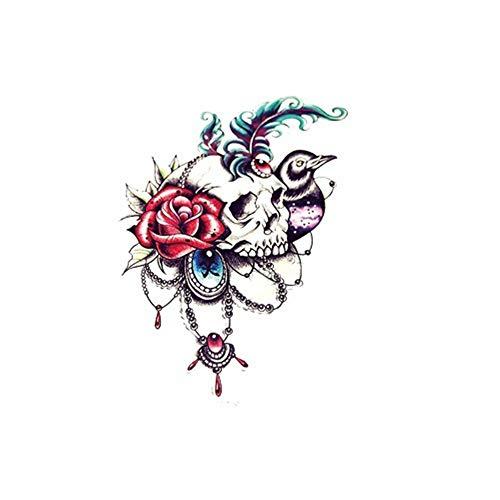3pcs Adesivo per tatuaggi croce di tigre di lupo drago impermeabile di lunga durata 11 14,8x21 cm