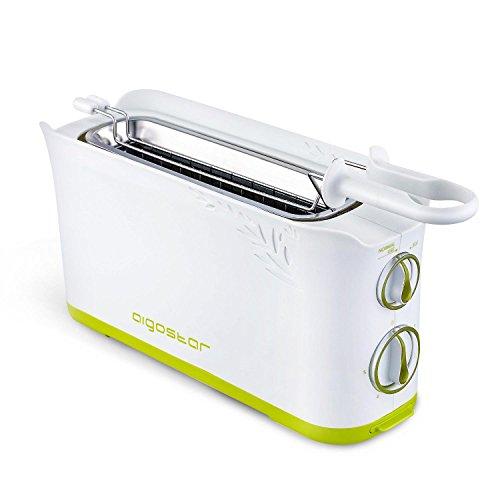 Aigostar Morning 30HIN - Tostapane per 2 fette, 750 watt di potenza, bianco. Funzione di temperatura...