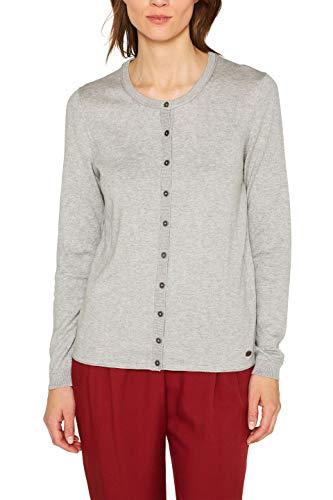 edc by Esprit 079cc1i003 Chaqueta Punto, Gris (Light Grey 5 044), Small para Mujer
